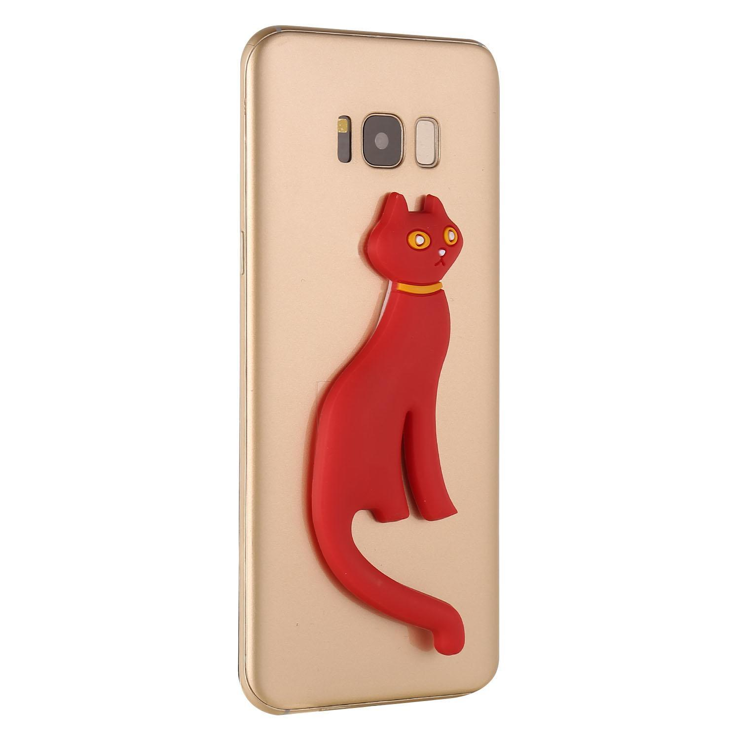 Cute Cat Silicone Phone Stand Mount Holder Stent Caroj - image 2 of 5