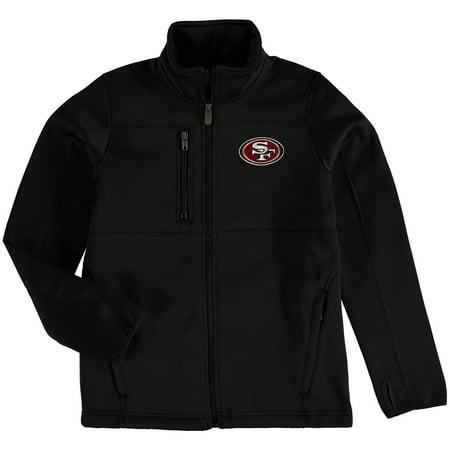 San Francisco 49ers Youth Helix Bonded Full-Zip Fleece Jacket - Black Banded Zip Jacket