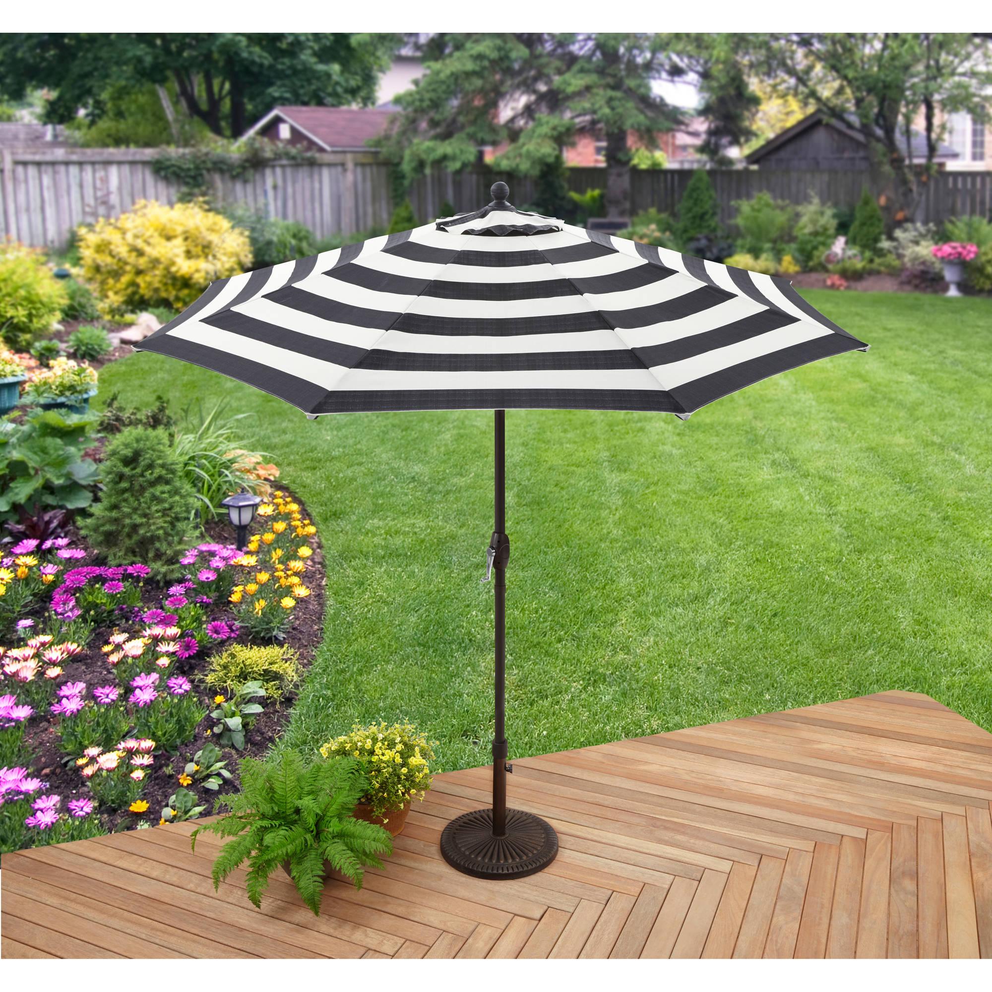 Better Homes And Gardens 9 Market Umbrella Cabana Stripe Walmart Com