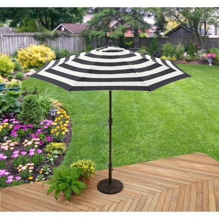 Better Homes and Gardens 9\' Market Umbrella, Cabana Stripe - Walmart.com