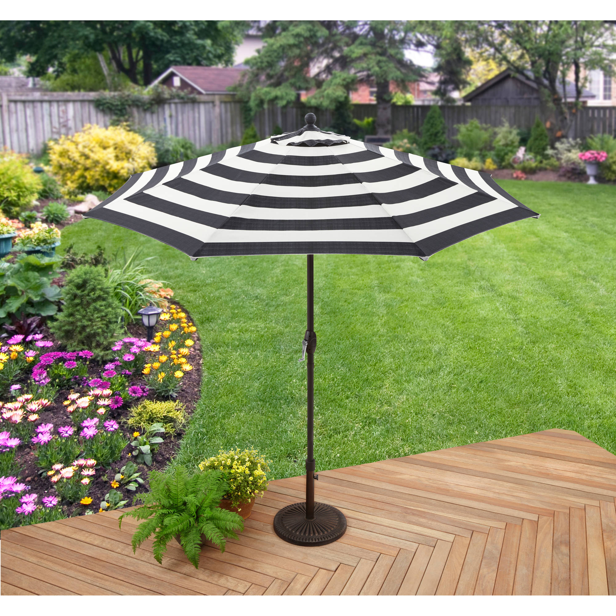 Better Homes & Gardens 9' Market Umbrella, Cabana Stripe