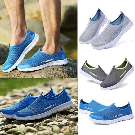 Men's Waterproof Shoes Lightweight Outdoor Walking Runnning (Best Shoes For Walking In Water)