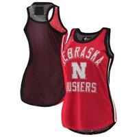 Nebraska Cornhuskers G-III 4Her by Carl Banks Women's Comeback Mesh Racerback Tank Top - Scarlet/Black