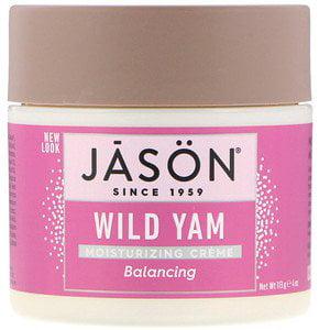 Jason Natural, Moisturizing Cream, Balancing Wild Yam, 4 oz (113 g) (Pack of