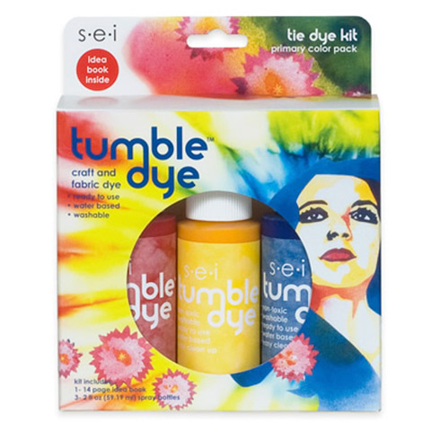 Tie Dye Kit - Primary Colors - 2-Ounce Bottles - 3 Pack