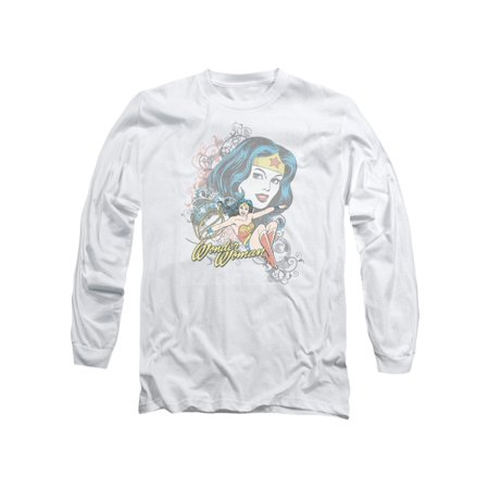 Scroll Print Tee (DC Comics Wonder Woman Scroll Adult Long Sleeve T-Shirt Tee)