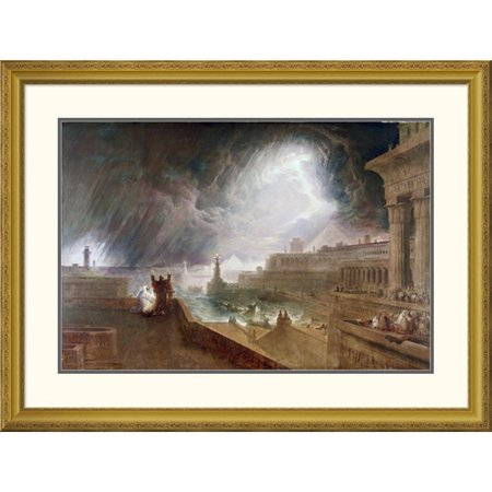 Global Gallery 'Seventh Plague of Egypt' by John Martin Framed Painting Print