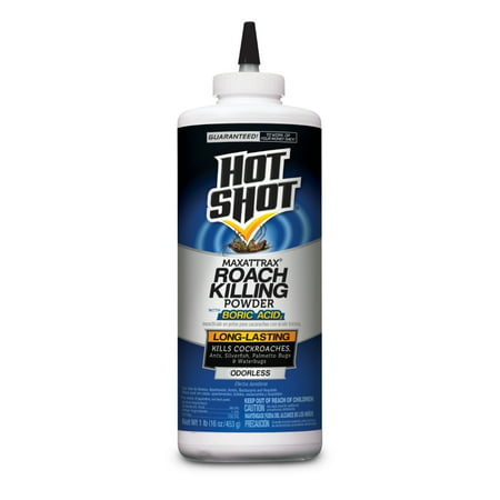 Hot Shot MaxAttrax Roach Killing Powder With Boric Acid, (Best Boric Acid For Roaches)