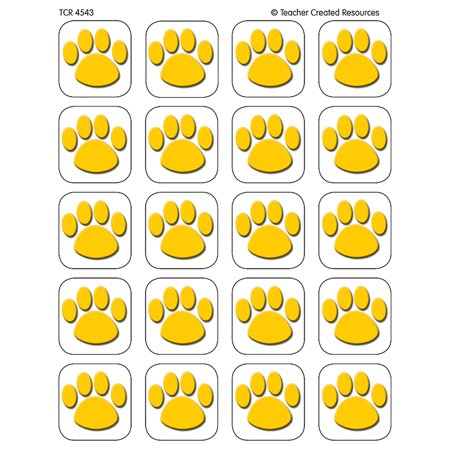 Gold paw print stickers