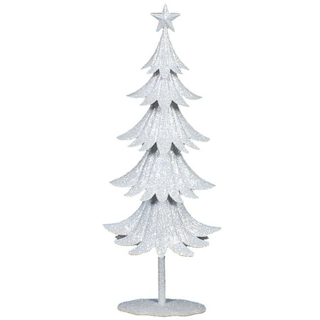 Holiday Time Small Metal Tree White