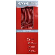 Sensations Cutlery Assorted Red Boxed 32 ct