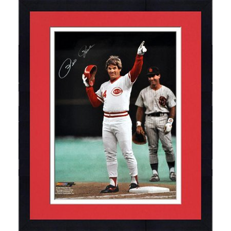 "Framed Pete Rose Cincinnati Reds Autographed 16"" x 20"" Pointing Photograph Fanatics Authentic Certified by"