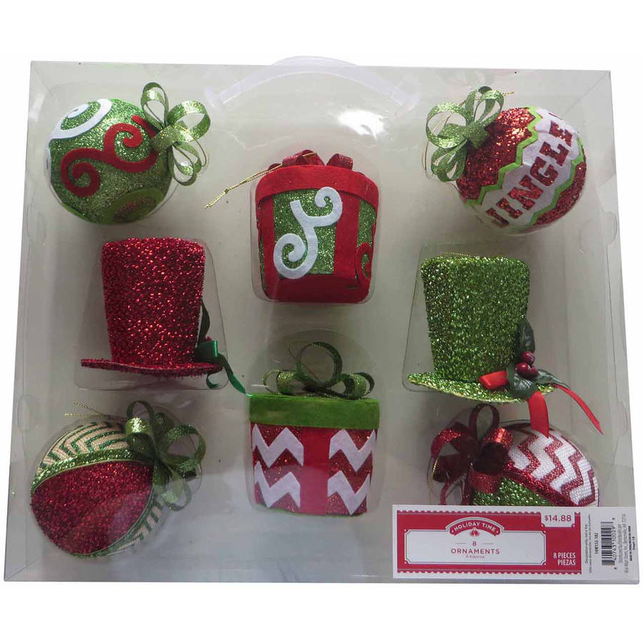 Holiday Time 8-Piece Hand Made Ornament Set