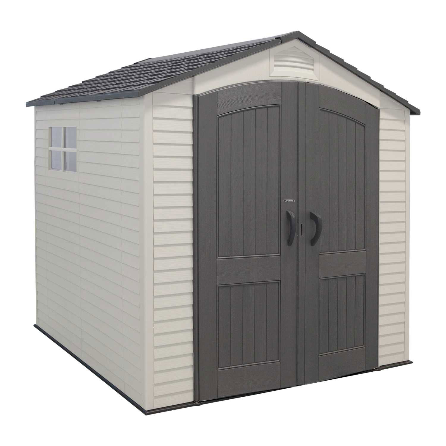 Lifetime 7 x 7 Foot Reinforced Outdoor All Purpose Storage Shed with Windows by Lifetime