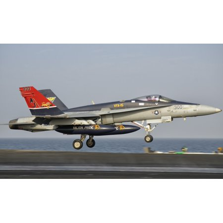 A Fa 18C Hornet Takes Off From The Flight Deck Of Uss George Hw Bush Canvas Art   Giovanni Collastocktrek Images  18 X 11