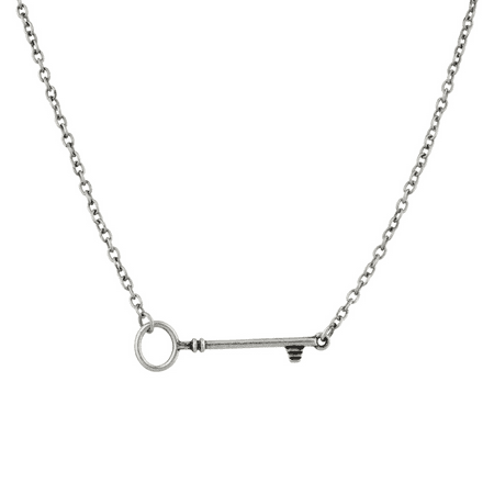 Lux Accessories Skeleton Key To My Heart Pendant -