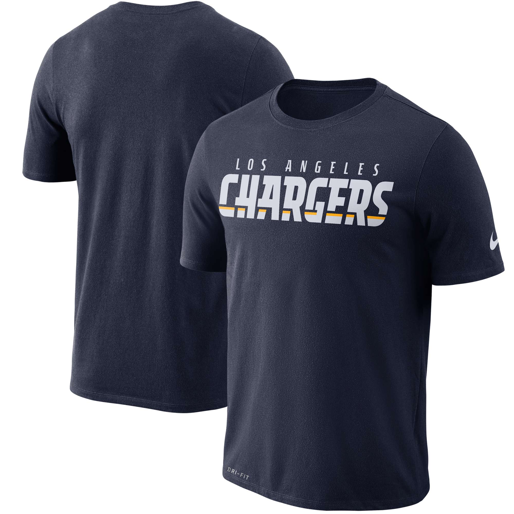 Los Angeles Chargers Nike Dri-FIT Cotton Essential Wordmark T-Shirt - Navy