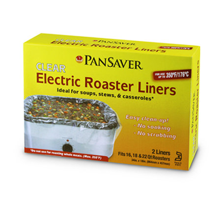 PanSaver® Clear Electric Roaster Liners, 18-pack (36 units)
