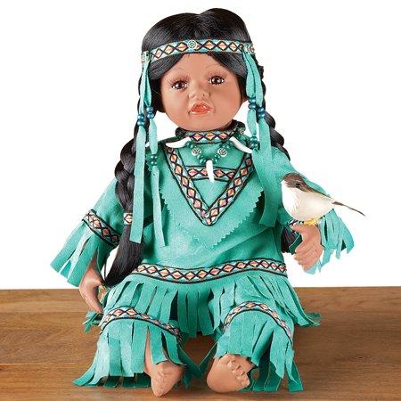 Women's Emona Native American Indian Girl Porcelain Doll
