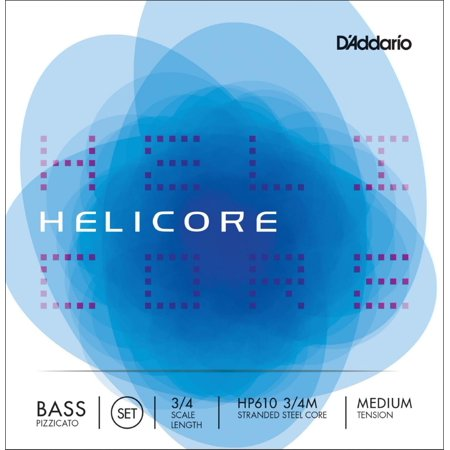 HP610 Helicore Pizzicato 3/4 Size Double Bass String Set