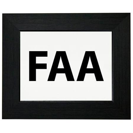 FAA - Large Font Graphic Design Framed Print Poster Wall or Desk Mount Options Font Frames Embroidery Design