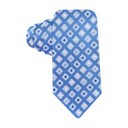 ALFANI Spectrum Tortola Neat Silk Blend Necktie Cobalt Blue Tie Diamond Pattern Diamond Patterned Silk Tie