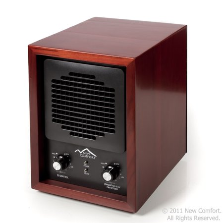 New Comfort 6 Stage Ozone Generator Air Purifier Cleaner HEPA UV Alpine Covers 3000 feet Cherry Wood Model