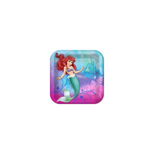 Hallmark 230411 Disney The Little Mermaid Sparkle Square Dinner Plates by Hallmark