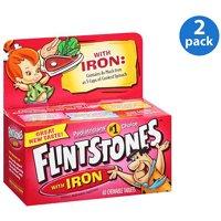 (2 Pack) Flintstones Children's Chewable Multivitamins with Iron, 60 Count