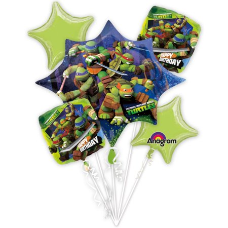 Ninja Turtles Bouquet of Balloons (Each) - Party Supplies for $<!---->