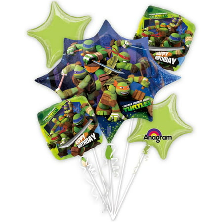 Ninja Turtles Bouquet of Balloons (Each) - Party Supplies](Girl Ninja Turtle Party)