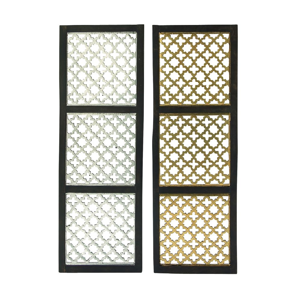 Exclusive Wood Metal Foil Panel 2 Assorted