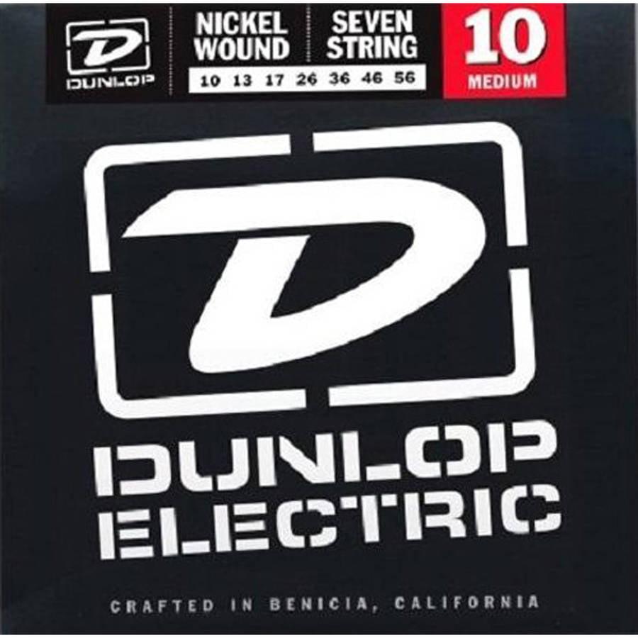 Dunlop DEN1056 Nickel-Plated Steel Electric Guitar 7-String Set, .010-.056