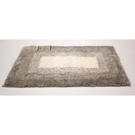 Soft Plush Rubber Backed Race Track Design Microfiber Bath Rug Palma 20 X30 Grey