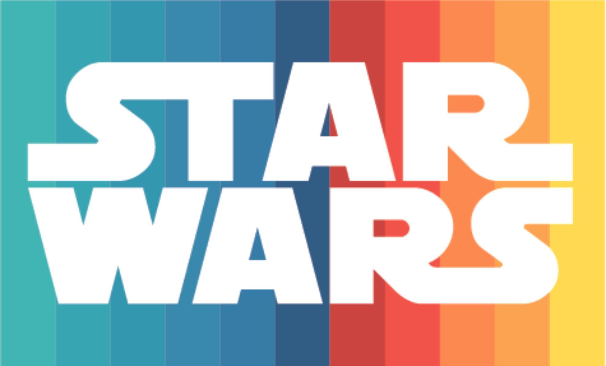 Star Wars Logo Rainbow Color Character Character ...