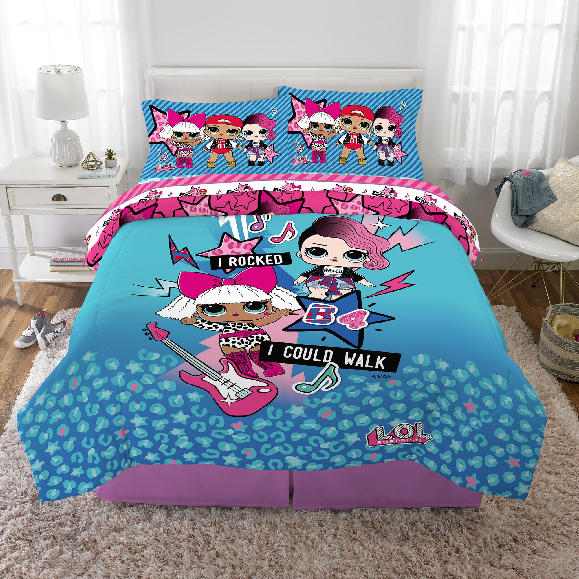 L O L Surprise Bed In A Bag Kids Bedding Bundle Set 5 Piece Full Walmart Com Walmart Com