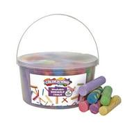"Colorations Sidewalk Chalk for Kids – 50pc 4"" x 1"" Washable, Bright Colored Chalk Set – Fun Kid Art Colors & Patterns – Draw on Classroom Chalkboard or Outdoor Playground – Jumbo Sidewalk Chalk Bulk"