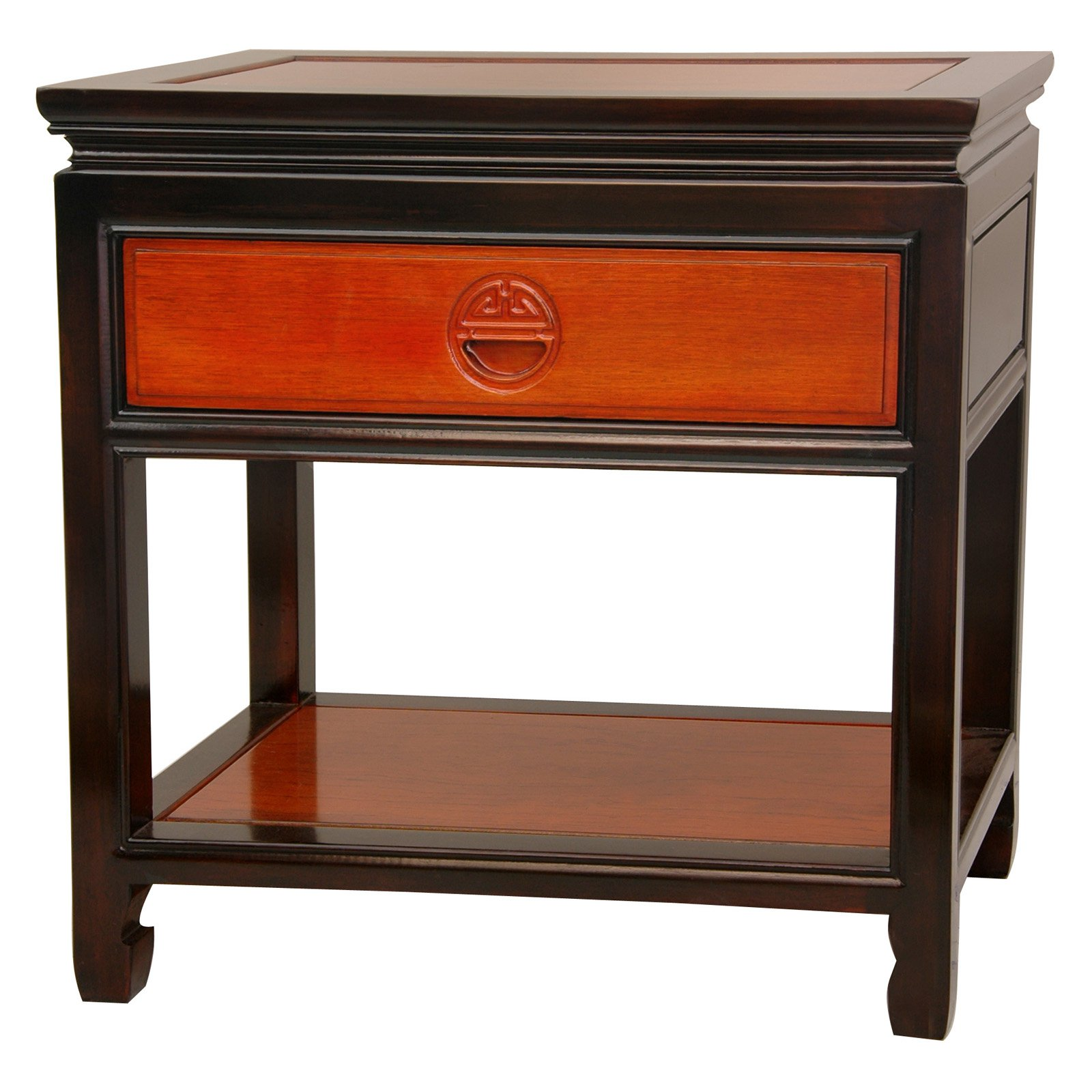 Oriental Furniture Rosewood Bedside Table