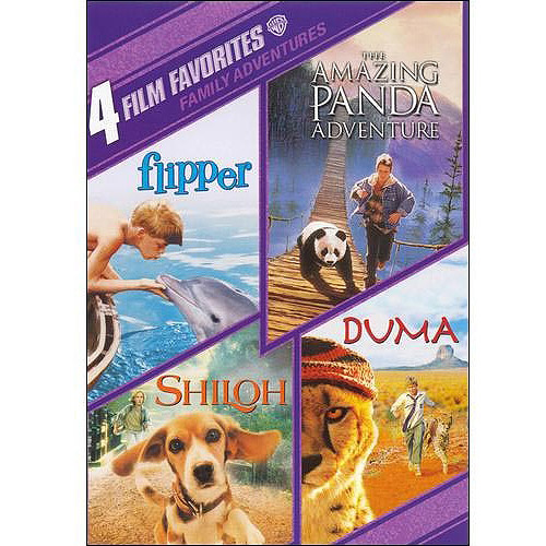 4 Film Favorites: Family Adventures - Flipper / The Amazing Panda Adventure / Shiloh / Duma