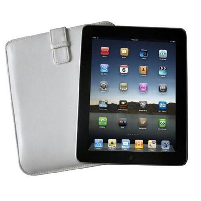 Icon 149742 Icon Apple iPad Sheep Skin Leather Sleeve - White
