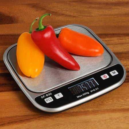 Zimtown Digital Pocket Kitchen Scale 0.001oz/0.01g 500g Kitchen Food Scale Jewelry Weight Compact Scale, Tare, Stainless (Best Insten Pocket Scales)