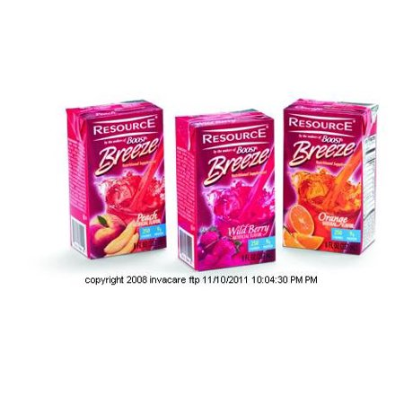 Nestle Nutritional Resource Breeze, Resource Nutri-Splmt Mix fruit, (1 CASE, 27 EACH)