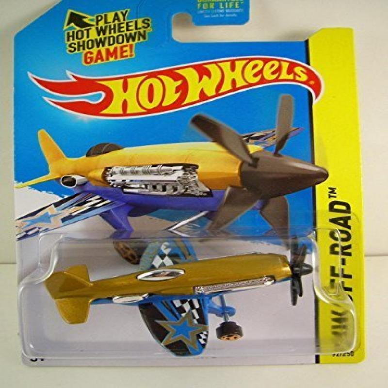 Hot Wheels 2015 HW Off-Road Mad Propz (Airplane) 92 250, Gold and Blue by