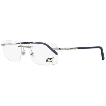 7dbd26dcce Montblanc Rimless Eyeglasses MB579 A16 Size  57mm Palladium Matte Blue 579  - Walmart.com