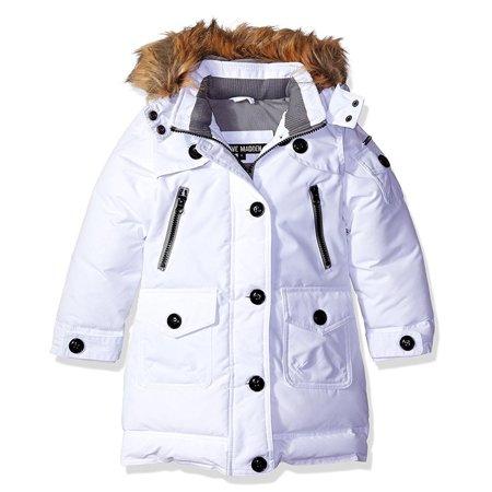 Steve Madden Girls 2T-4T Faux Fur Parka ()