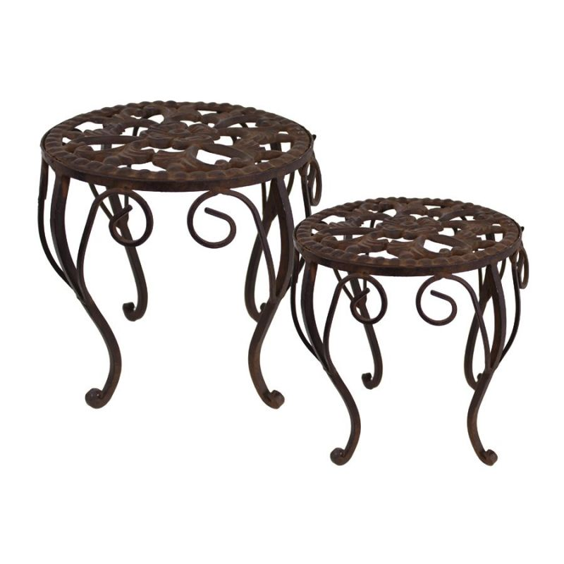 Import Collection Martha Plant Stands (Set of 2) by Import Collection