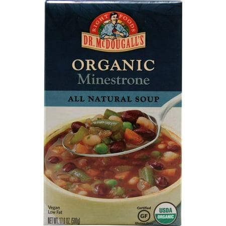 Dr. McDougall's Organic Soup Gluten Free Minestrone 17.6 Ounce (Organic Minestrone)