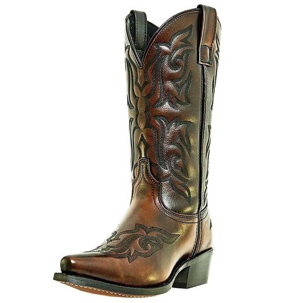 Laredo Western Boots Mens Hawk Cowboy Snip Toe Burnished Gold 6862 by Laredo