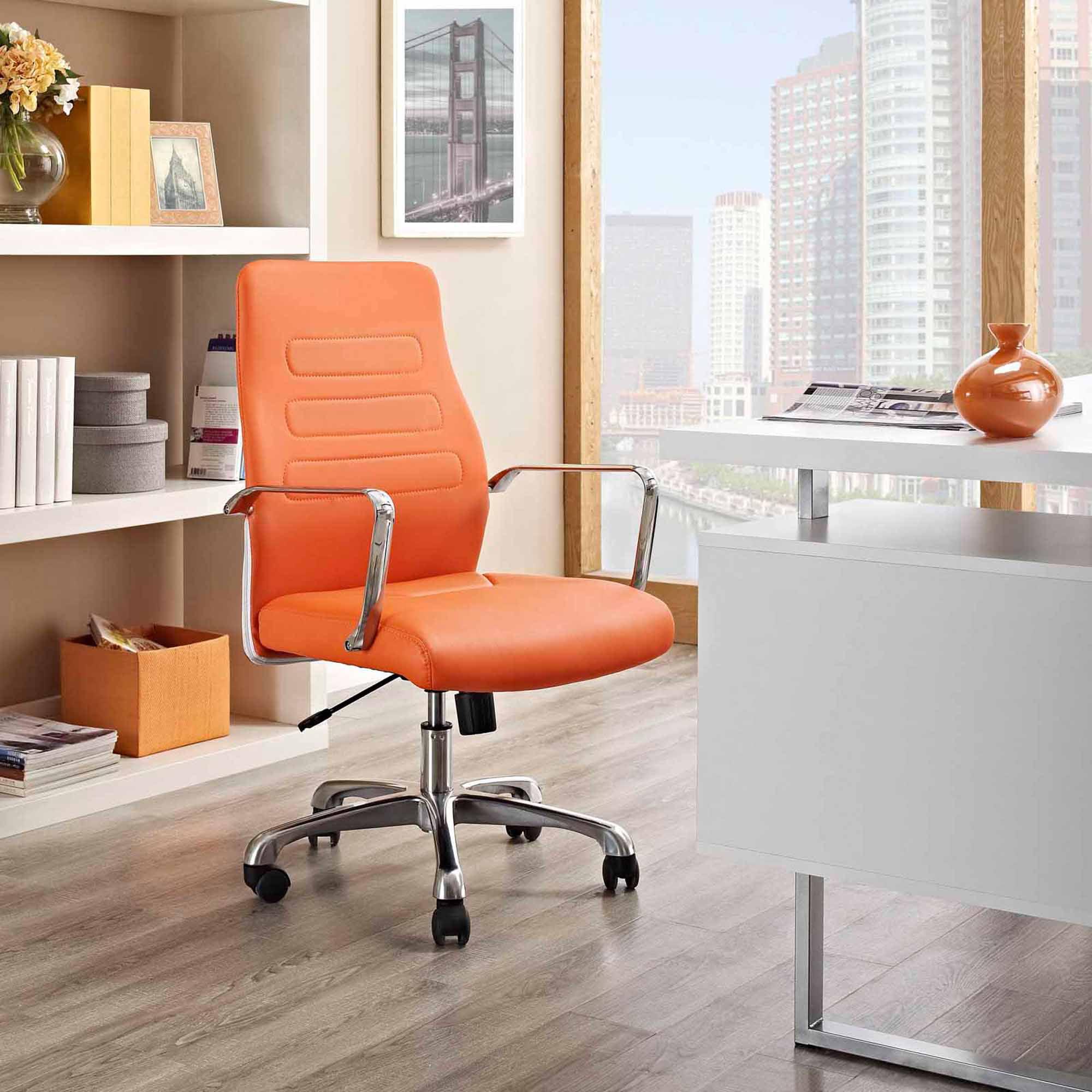 Modway Depict Mid Back Aluminum Office Chair, Multiple Colors