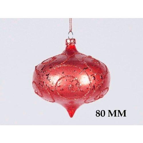 Christmas at Winterland  WL-ONION-80-RE  Hanging Ornaments  Small Holiday Hanging Ornaments  Holiday Decor  Small Hanging Ornament  ;Red
